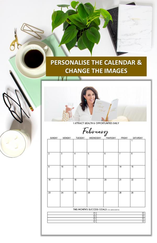 Editable 2020 Printable Calendar Template