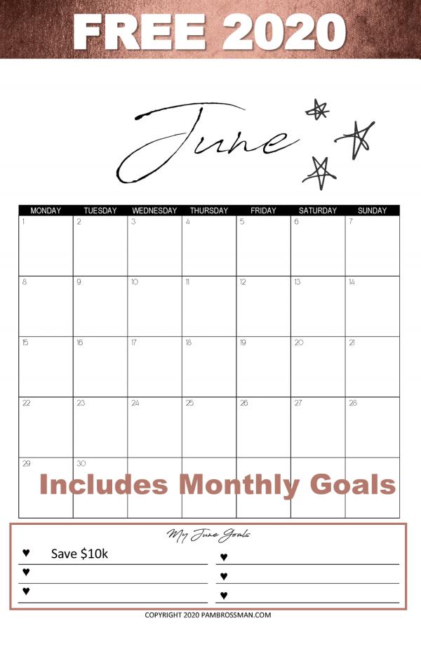 2020 Free Calendar