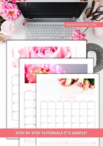 2020 Printable Calendar Editable Template