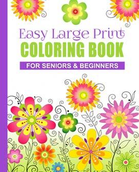 Large Print Coloring Book Seniors